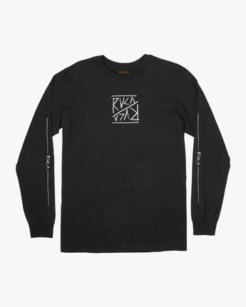 1 Boy's Flipped Long Sleeve T-Shirt  B451TRFL RVCA