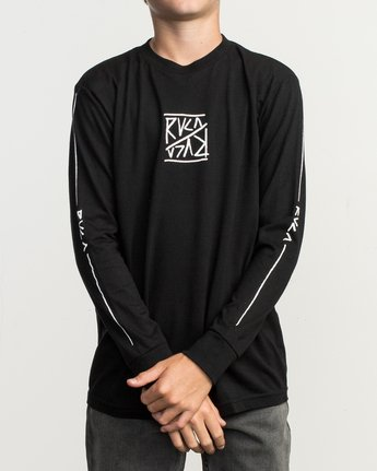 2 Boy's Flipped Long Sleeve T-Shirt  B451TRFL RVCA