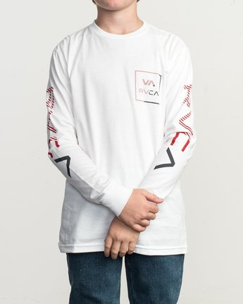 1 Boy's Segment Long Sleeve T-Shirt White B451TRSE RVCA