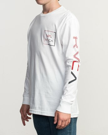 2 Boy's Segment Long Sleeve T-Shirt White B451TRSE RVCA