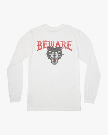 0 Boy's Suzuki Beware Long Sleeve T-Shirt White B451URBE RVCA