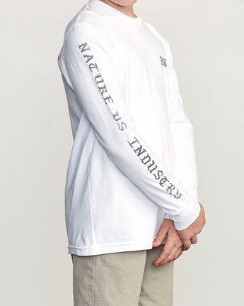 4 Boy's Suzuki Beware Long Sleeve T-Shirt White B451URBE RVCA