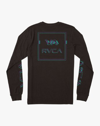 0 Boy's Big Glitch Long Sleeve T-Shirt Black B451VRBG RVCA