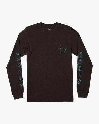 1 Boy's Big Glitch Long Sleeve T-Shirt Black B451VRBG RVCA