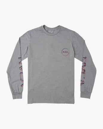1 Boy's Big Glitch Long Sleeve T-Shirt Grey B451VRBG RVCA