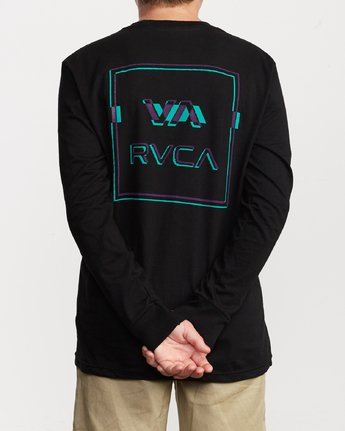 5 Boys Big Glitch Long Sleeve T-Shirt Black B451VRBG RVCA