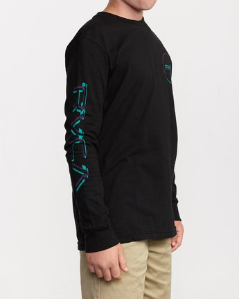 4 Boys Big Glitch Long Sleeve T-Shirt Black B451VRBG RVCA