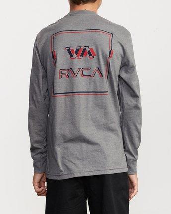 5 Boy's Big Glitch Long Sleeve T-Shirt Grey B451VRBG RVCA