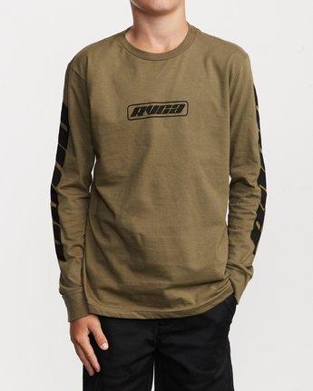 1 Boy's Warehouse Long Sleeve T-Shirt Green B451VRWA RVCA