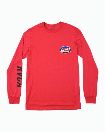 1 Boy's Cortex Long Sleeve T-Shirt Grey B451WRCT RVCA