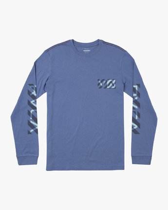 0 BOY'S HAZARD LONG SLEEVE T-SHIRT Blue B4541RHA RVCA