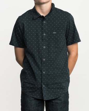 1 Boy's Legacy Button-Up Shirt Blue B501SRLE RVCA