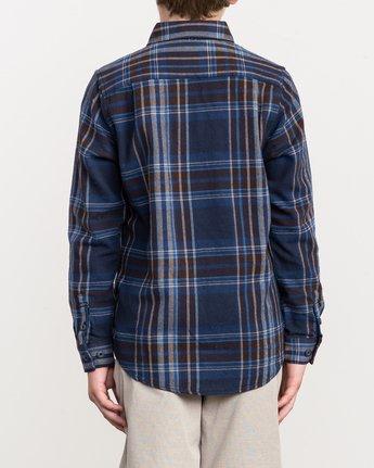 3 Boy's Ludlow Plaid Flannel Blue B502QRLU RVCA