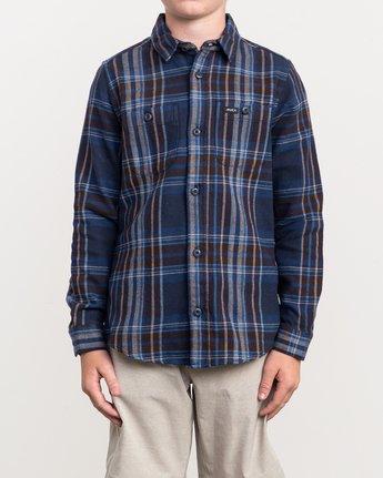 1 Boy's Ludlow Plaid Flannel Blue B502QRLU RVCA