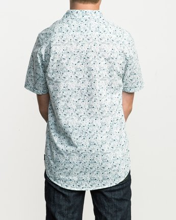 3 Boy's Makato Button-Up Shirt White B502SRMA RVCA