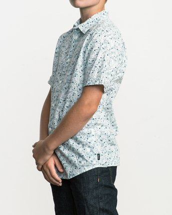 2 Boy's Makato Button-Up Shirt White B502SRMA RVCA