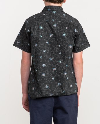 3 Boy's Scattered Printed Shirt Black B506QRSC RVCA