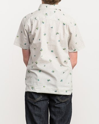3 Boy's Scattered Printed Shirt Silver B506QRSC RVCA