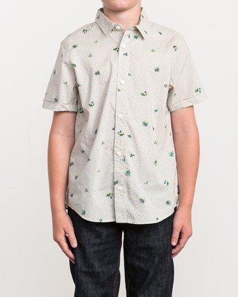 1 Boy's Scattered Printed Shirt Silver B506QRSC RVCA