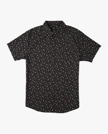 0 Boy's Folk Button-Up Shirt Black B506SRFO RVCA