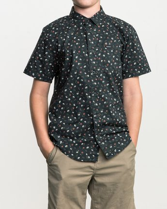 1 Boy's Folk Button-Up Shirt Black B506SRFO RVCA