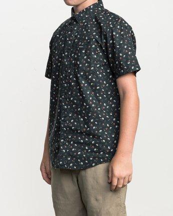2 Boy's Folk Button-Up Shirt Black B506SRFO RVCA