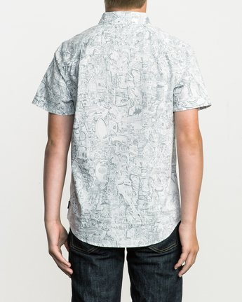 3 Boy's Grillo Button-Up Shirt  B507SRGR RVCA
