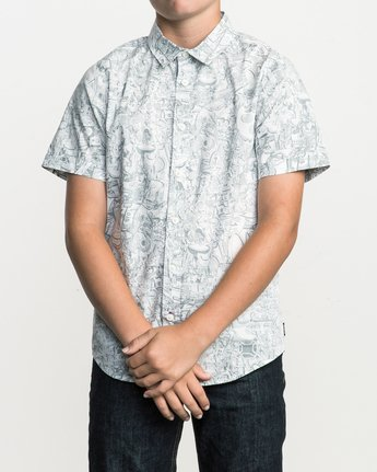1 Boy's Grillo Button-Up Shirt  B507SRGR RVCA