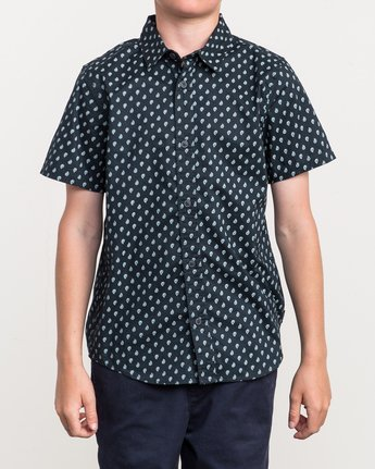 1 Boy's Mini Paisley Printed Shirt  B508QRMP RVCA