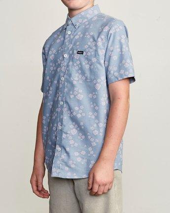 2 Boy's That'll Do Print Shirt Blue B508TRTP RVCA