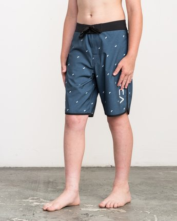 2 Boy's Eastern Boardshorts Blue B5104EAS RVCA