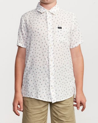 1 Boy's Prelude Floral Shirt White B511VRPF RVCA