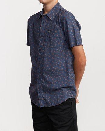 2 Boy's Prelude Floral Shirt Blue B511VRPF RVCA