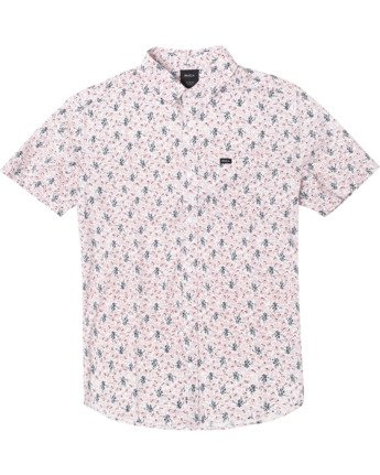 0 Boys MONKBERRY FLORAL SHORT SLEEVE SHIRT White B5163RMB RVCA