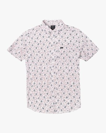 1 Boys MONKBERRY FLORAL SHORT SLEEVE SHIRT White B5163RMB RVCA