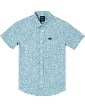 0 Boys OBLOW WAVES SHORT SLEEVE SHIRT Brown B5172ROW RVCA