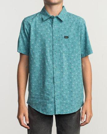 1 Boy's Jah Va Shirt Blue B519TRJV RVCA
