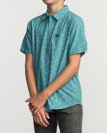 2 Boy's Jah Va Shirt Blue B519TRJV RVCA