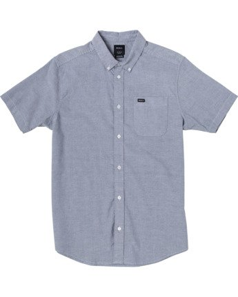 0 Boys That'll Do Stretch Short Sleeve Shirt Blue B525TRTS RVCA