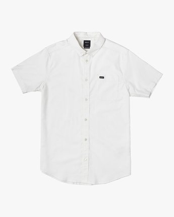 0 Boy's That'll Do Stretch Short Sleeve Shirt White B525TRTS RVCA