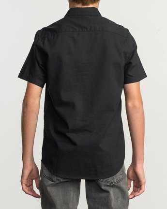 3 Boys That'll Do Stretch Short Sleeve Shirt Black B525TRTS RVCA