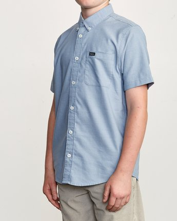 2 Boy's That'll Do Stretch Short Sleeve Shirt Blue B525TRTS RVCA