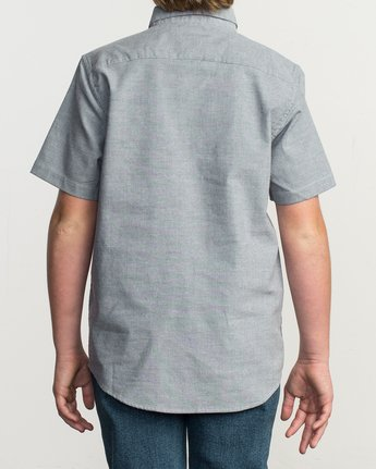 3 Boys That'll Do Stretch Short Sleeve Shirt Blue B525TRTS RVCA