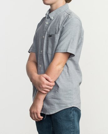 4 Boys That'll Do Stretch Short Sleeve Shirt Blue B525TRTS RVCA
