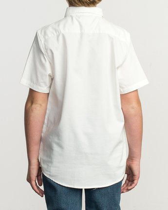 3 Boys That'll Do Stretch Short Sleeve Shirt White B525TRTS RVCA