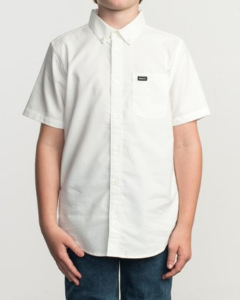 2 Boys That'll Do Stretch Short Sleeve Shirt White B525TRTS RVCA