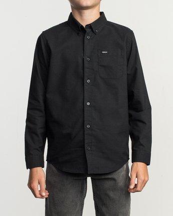 1 Boy's That'll Do Stretch Long Sleeve Shirt Black B526TRTL RVCA