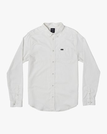 1 Boys That'll Do Stretch Long Sleeve Shirt White B526VRTL RVCA
