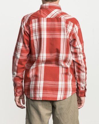 3 Boy's Wanted Plaid Flannel  B551SRWA RVCA