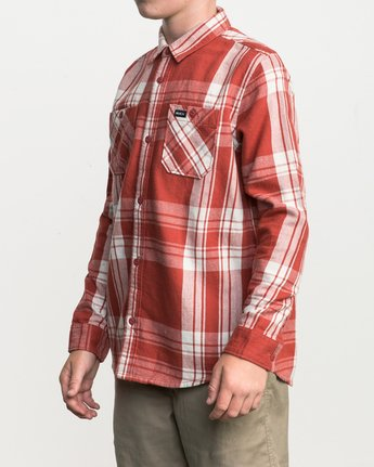 2 Boy's Wanted Plaid Flannel  B551SRWA RVCA